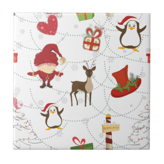 Christmas Colorful Symbols 2 Changeable Background Tile