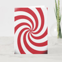 Christmas Colors Candy Red White Swirls Holidays Holiday Card