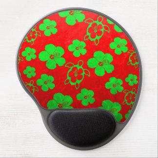 Christmas Colors Hawaiian Honu Gel Mouse Pad