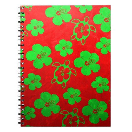 Christmas Colors Hawaiian Honu Journal