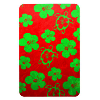 Christmas Colors Hawaiian Honu Magnet