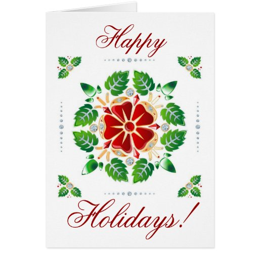 Christmas Colors Pattern Greeting Card