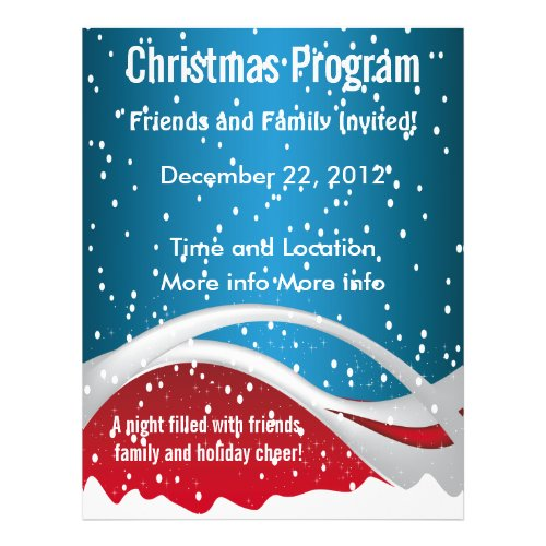 Christmas Colors Program Flyer flyer