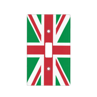 Christmas Colors Union Jack Light Switch Cover