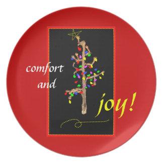 Christmas Comfort and Joy plate