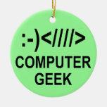Christmas Computer Geek Christmas Ornaments