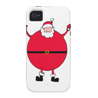 Christmas Concept: Santa arms wide open happly iPhone 4 Covers