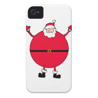 Christmas Concept: Santa arms wide open happly iPhone 4 Case-Mate Cases