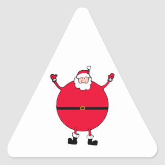 Christmas Concept: Santa arms wide open happly Triangle Sticker