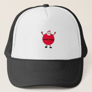 Christmas Concept: Santa arms wide open happly Trucker Hat