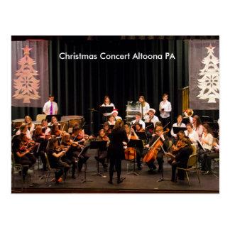 Christmas Concert Altoona PA Postcard