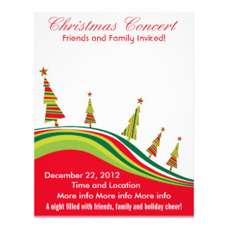 Christmas Concert Red and Green Flyer