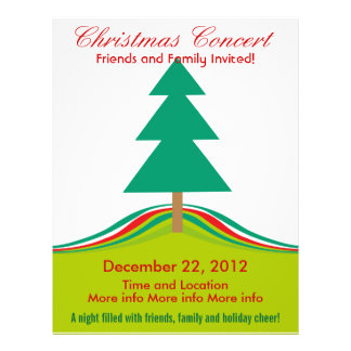 Christmas Concert Simple Holiday Tree Flyer
