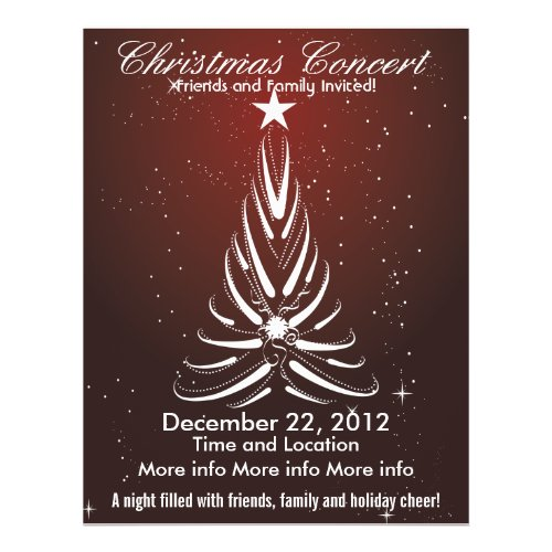Christmas Concert White Tree Flyer flyer