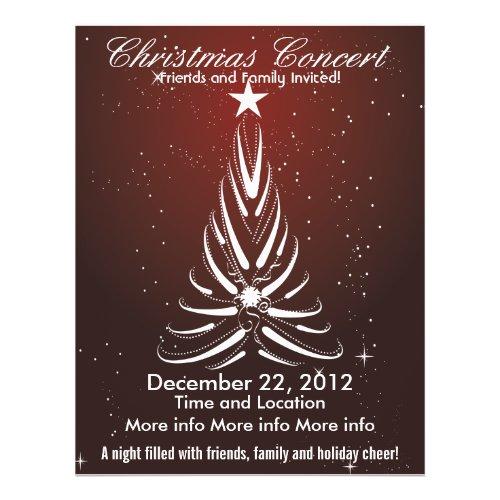 Christmas Concert White Tree Flyer flyer
