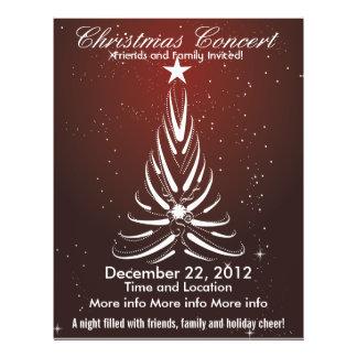 Christmas Concert White Tree Flyer