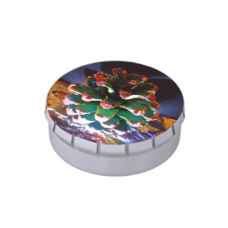 CHRISTMAS CONE Jelly Belly™ Small Snip Snap Tin Candy Tin
