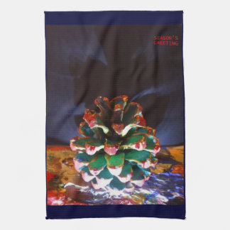 CHRISTMAS CONE Kitchen Towel 16 x 24