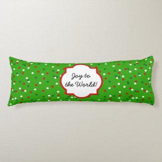 Christmas Confetti • Christmas Tree Sprinkles Body Pillow