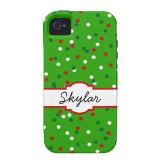 Christmas Confetti • Christmas Tree Sprinkles iPhone 4 Covers