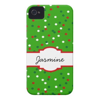 Christmas Confetti • Christmas Tree Sprinkles iPhone 4 Case-Mate Cases