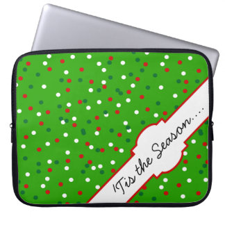 Christmas Confetti • Christmas Tree Sprinkles Laptop Computer Sleeve