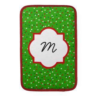 Christmas Confetti • Christmas Tree Sprinkles MacBook Sleeve