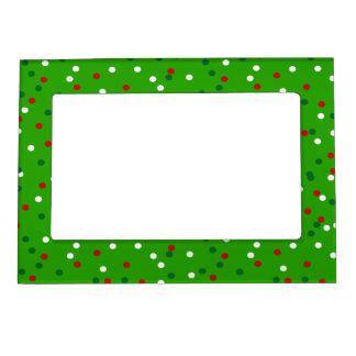 Christmas Confetti • Christmas Tree Sprinkles Magnetic Photo Frame