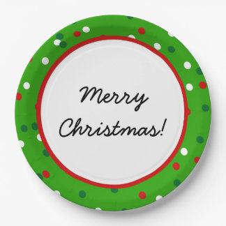 Christmas Confetti • Christmas Tree Sprinkles Paper Plate