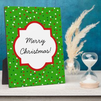 Christmas Confetti • Christmas Tree Sprinkles Plaque