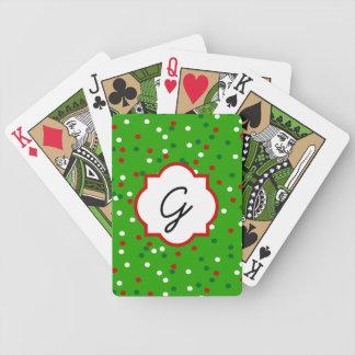 Christmas Confetti • Christmas Tree Sprinkles Playing Cards
