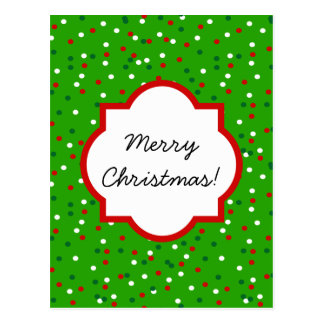 Christmas Confetti • Christmas Tree Sprinkles Postcard