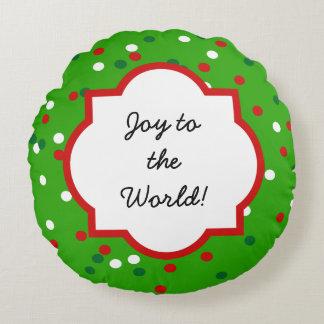 Christmas Confetti • Christmas Tree Sprinkles Round Pillow