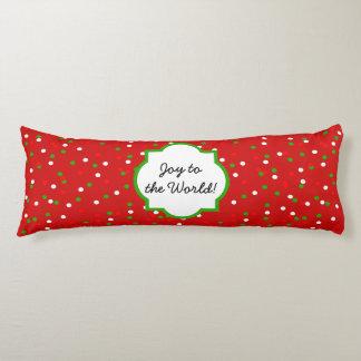 Christmas Confetti •  Red Hot Cinnamon Sprinkles Body Pillow
