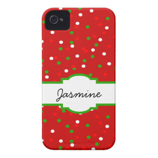 Christmas Confetti •  Red Hot Cinnamon Sprinkles iPhone 4 Case