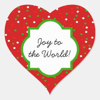 Christmas Confetti •  Red Hot Cinnamon Sprinkles Heart Sticker