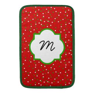 Christmas Confetti • Red Hot Cinnamon Sprinkles MacBook Air Sleeve