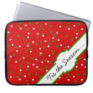 Christmas Confetti •  Red Hot Cinnamon Sprinkles Laptop Sleeves