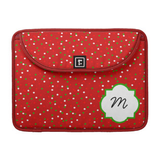 Christmas Confetti • Red Hot Cinnamon Sprinkles Sleeves For MacBook Pro