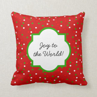 Christmas Confetti •  Red Hot Cinnamon Sprinkles Throw Pillow