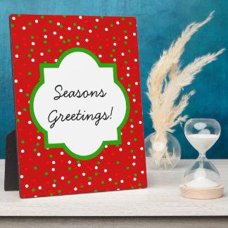 Christmas Confetti •  Red Hot Cinnamon Sprinkles Plaque