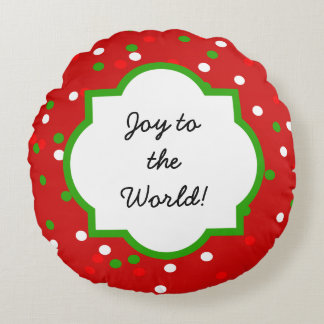 Christmas Confetti •  Red Hot Cinnamon Sprinkles Round Pillow