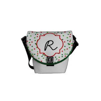 Christmas Confetti •  Royal Icing Sprinkles Messenger Bag