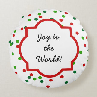 Christmas Confetti •   Royal Icing Sprinkles Round Pillow