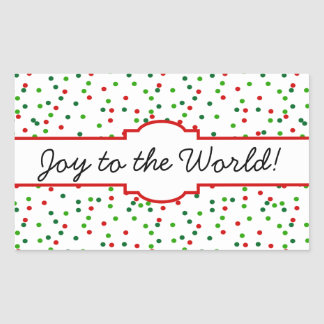 Christmas Confetti •  Royal Icing Sprinkles Rectangular Stickers