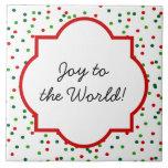 Christmas Confetti •  Royal Icing Sprinkles Ceramic Tiles
