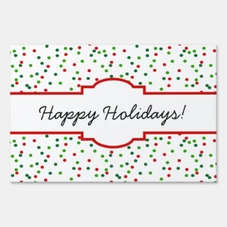 Christmas Confetti •  Royal Icing Sprinkles Lawn Signs