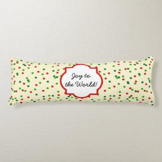 Christmas Confetti • Sugar Cookie Sprinkles Body Pillow