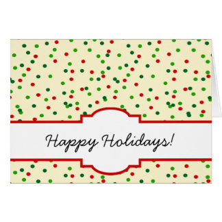 Christmas Confetti • Sugar Cookie Sprinkles Greeting Card