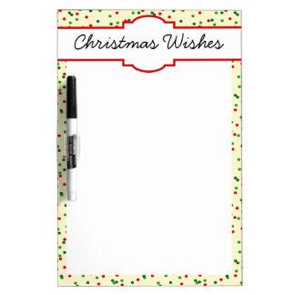 Christmas Confetti • Sugar Cookie Sprinkles Dry-Erase Boards